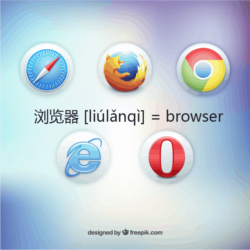 浏览器 [liúlǎnqì] = browser