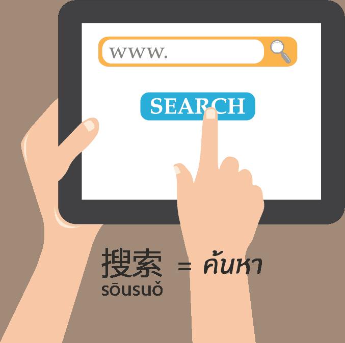 搜索 [sōusuǒ] = search